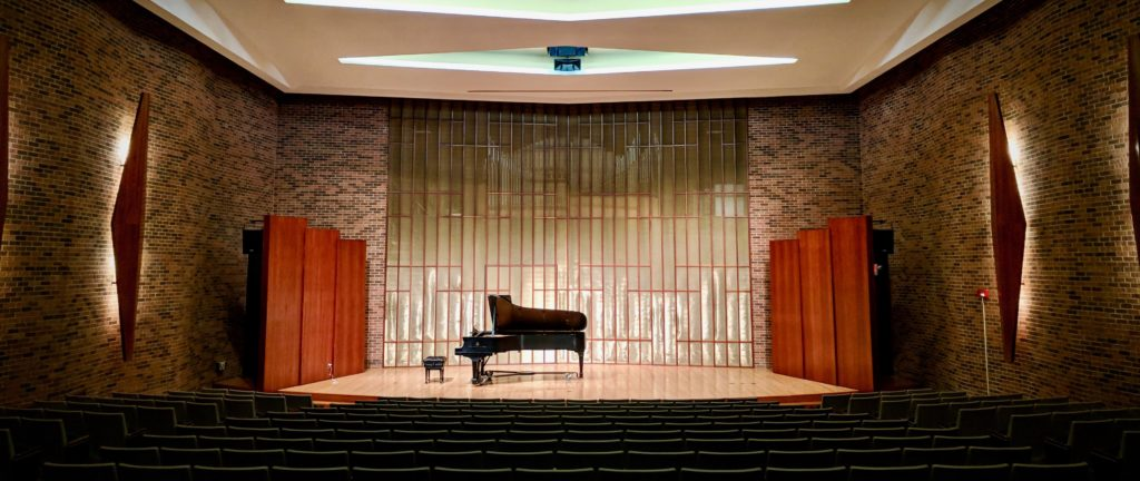 One State 2018 conference venue Kresge Recital Hall, Ford Center for the Fine Arts, Knox College. Photo by Zachary Whittenburg.